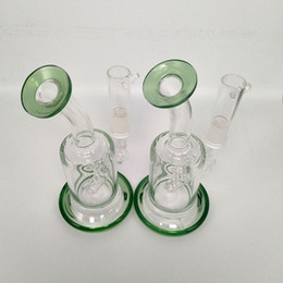 Glass pricinG pipes online shopping - Cheap Price Mini glass blunt Bong Water Pipe Recycler Bong Dab Rig Oil Smoking Pipe Ice Clear Bend Bong