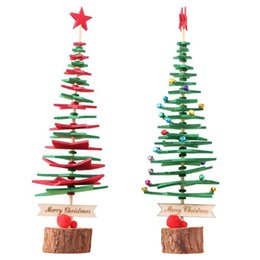 Discount new packaging products - Christmas tree DIY Non-woven Fabric Products The New Year Mini Christmas Material Package Kits Xmas Tree Decor 33*10*10