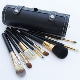 goat hair dhl Australia - Makeup Brush Barrel Bottle 9 pieces Makeup brush Tools Black Brush Barrel Bottle DHL Free shipping