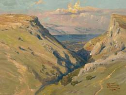 Discount thomas kinkade oil - Mount Arbel Thomas Kinkade Oil Paintings Art Wall Modern HD Print On Canvas Decoration No Frame