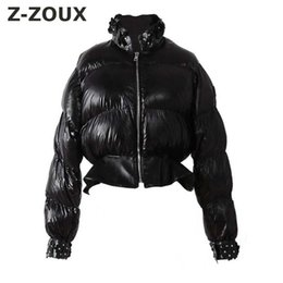 $enCountryForm.capitalKeyWord Australia - Z-ZOUX Womens Down Jackets Decals Short Down Coats Women Parkas Long Sleeve Lightweight Jackets Woman Winter Coat Black New