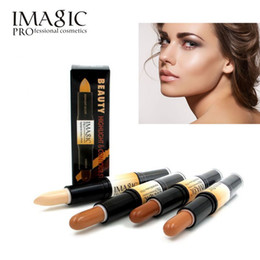 blemish concealer Canada - IMAGIC Makeup Creamy Double-ended 2in1 Contour Stick Contouring Highlighter Bronzer Create 3D Face Concealer Full Cover Blemish