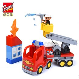 $enCountryForm.capitalKeyWord Canada - GOROCK Large Size 30PCS Fire Station Model Building Blocks Compatible Duploe Bricks Fireman Figures Intelligence Toys For Kids