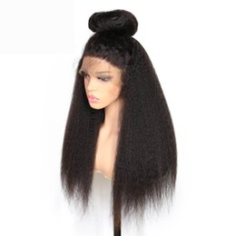 Kinky Straight Hair For UK - Slove Hair Brazilian Lace Front Human Hair Wig For Black Women Remy Human Hair Kinky Straight Wigs With Baby Headline