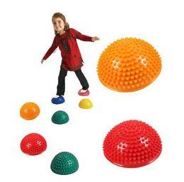 Chinese  New Fashion Hemispheres Stepping Stone Durian Massage Ball Kids Children Kindergarten Sensory Integration Balance Training Toys manufacturers