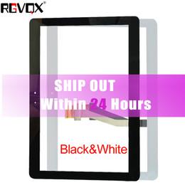 NUEVO digitalizador de pantalla táctil para Samsung Galaxy Tab2 10.1 P5100 P5110 Nota N8000 N8010 Negro / Blanco Reparación de reemplazo de cristal