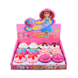 $enCountryForm.capitalKeyWord NZ - 12 pcs Lot Mini Scented Childrens Toys Cupcake Princess Deformable doll Cake Girl Transform Scented Girls Toys