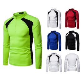 $enCountryForm.capitalKeyWord NZ - Men's Sweatshirt Luxury Designer Stand Collar Casual T-Shirt Autumn Men's Splicing Slim Sweater Fashion Pullover Jacket S-2XL Free Shipping