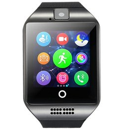 kids mini gps tracker UK - For Iphone 6 7 8 X Bluetooth Smart Watch Apro Q18 Sports Mini Camera For Android iPhone Samsung Smart Phones GSM SIM Card Touch Screen