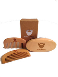 boar combs Australia - Men's Beard Brush&Comb Kit Boar Bristles Mustache Facial Hair Brush Engrave