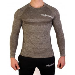 mens casual tees Canada - New Summer Fashion Men's fitness T Shirt Casual Patchwork Long Sleeve T Shirt Mens Clothing Trend Casual Slim Fit Tops Tees