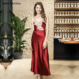 faa1d8056 Women Nightwear Brands Australia - BERTHATINA 2018 Summer Hot New Brand  Women Rayon Gown Sexy Ladies