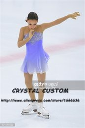 Women Figure Skating NZ - Crystal Custom Figure Skating Dresses Girls New Brand Ice Skating Dresses For Competition DR4556
