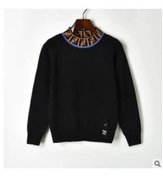 Turtle Blocks NZ - New design women's autumn color block double F letter print turtleneck long sleeve knitted sweater jumpers short pullover tops