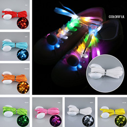 Glow Party Decorations Australia - Wholesale 400pair New 2018 LED Glowing Shoelaces Multicolor Flashing Luminous Outdoor Party Kit Shoestrings Christmas Halloween Decorations