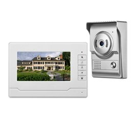 Security SyStem doorbell online shopping - Video Doorphone quot Wired Video Door Phone Doorbell Intercom System Camera IR Night for Home Office Security System