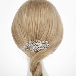 elegant hair combs UK - Elegant Crystal Flower Bridal Hair Combs Hairpin Bridal Wedding Hair Accessories Wedding Hair Jewelry for Women