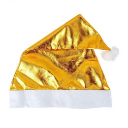Christmas Ornament Caps NZ - 2015 New Blue Gold Red Gold BumaoChristmas hat Christmas Ornaments cap for Chiristmas party 20g pcs