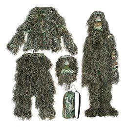 5ecf404bf4341 5 pieces New Ghillie Suit Camo Woodland Camouflage Forest Hunting 3D