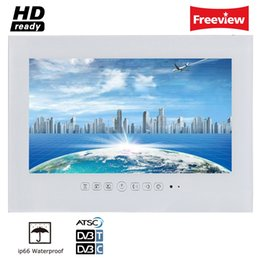 Dvb t2 tv usb online shopping - 19 quot White Color Bathroom IP66 Waterproof Rated LED TV for Hotel Sauna Room DTV DVB T T2 USB Indoor Advertising LED tv Display