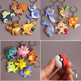 $enCountryForm.capitalKeyWord Australia - 3D Anime  Go Key Ring Pikachu Keychain Pocket Monsters Key Holder Pendant Mini Charmander Squirtle Eevee Vulpix Figures