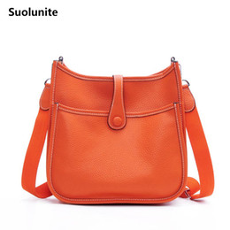Wholesale Suolunite Women Luxury Brand Shoulder Bag Genuine Leather H Hole Fashion Trend Shoulder Bag Lady Lichee Pattern Crossbody Bag Y18102204