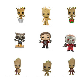 Guardians Galaxy Figures NZ - Funko POP Guardians of the Galaxy Tree People PVC Action Figure Dolls With Box