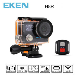 Remote video cameRas online shopping - Original EKEN H8R Ultra HD K fps Video Action Camera with Remote Control inch m waterporoof sport Camera