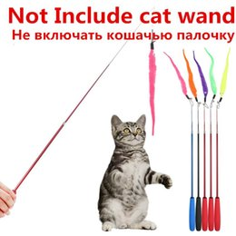 $enCountryForm.capitalKeyWord Australia - 5pcs Colorful Pet Kitten Cat Teaser Replacement Refill Plush With Bell Training Cat Teaser Wand Cat Toy Pendant Cats Products