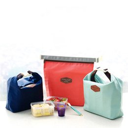 Cool tote lunCh bag online shopping - Tote Lunch Bag Travel Portable Waterproof Cooler Insulated Thermal Food Storage Box Picnic Bags Multi Color mc C