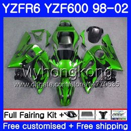 Yzf r6 fairing green online shopping - Body For YAMAHA Green flames hot YZF R6 YZF600 YZFR6 HM YZF YZF R600 YZF R6 Fairings