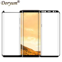 China Cell Phone Screen Protectors for Samsung S9 Note9 Curved Steel3D Hot Bending S8 Silk Screen Full Coverage S9 + Glass Film supplier cell phone screen protector glass suppliers