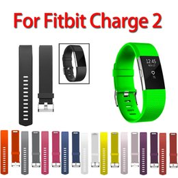 $enCountryForm.capitalKeyWord NZ - 11 Colors Sport Watch Bracelet For Fitbit Charge 2 Watch Small and Large Size silicone Replacement Smart band