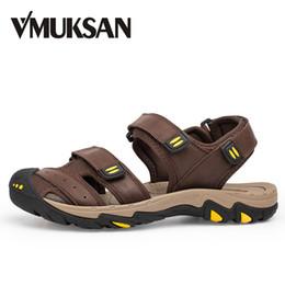 180232d2408f Mens Fisherman Sandals Leather Canada - VMUKSAN Brand Men Sandals Shoes  Large Size 38-47