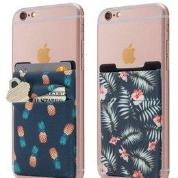 cell phone cases stickers 2019 - Fashion Good selling 3m Adhesive Sticker Cell Phone Credit Card Holder, Phone case Wallet Credit Card Secure Holder Lycr