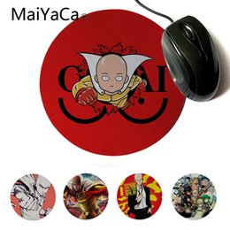 Rubber Player NZ - MaiYaCa In Stocked One Punch Man Customized MousePads Computer Laptop Mouse Mat Gaming Player desk laptop Rubber Mouse Mat