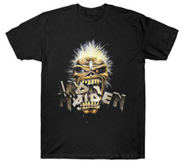 ba76b2342 Iron Design T Shirt UK - New Iron Maiden Band Eddie Crunch Heavy Metal Shirt  (
