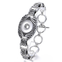 $enCountryForm.capitalKeyWord NZ - New Noosa Chunk 18mm Snaps Button Metal Flower Craving Bracelets Bangle Fit 18MM Snaps Interchangeable DIY Bangle Bracelet Jewelry