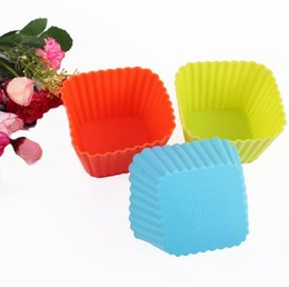 $enCountryForm.capitalKeyWord UK - 3 size Square Shape 3D Cake Cup Silicone Muffin Cupcake Mold Baking Tools Cake Decorating Tools For Bakeware MK1718