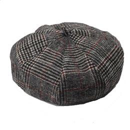 b7c50eecc656e Gorra para hombre New Newsboy Caps Moda para hombre Mezcla de algodón con  rayas Cabbie Newsboy