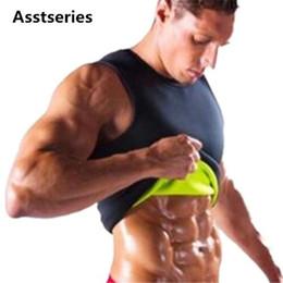 006b07a3a37bd Hot Shapers Slimming T-shirt Neoprene Shaper Men Slimming Vest Shaper  Corset Waist Trainer Belt Super Stretch Shapewear 6 colour