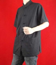 $enCountryForm.capitalKeyWord Canada - Fine Linen Black Kung Fu Martial Arts Tai Chi Shirt Clothing XS-XL or Tailor Custom Made