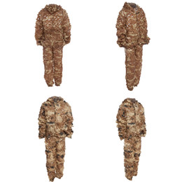 Hunting 3D Camo Bionic Leaf Camouflage Jungle Hunting Ghillie Suit Set CS Savage Kit Desert Gobi Grassland Sniper Ghillie Bionic on Sale