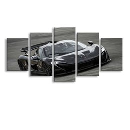 $enCountryForm.capitalKeyWord Australia - 5 pieces high-definition print sports car canvas oil painting poster and wall art living room picture C5-33