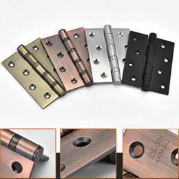 Discount wood interior doors - Furniture Hardware Accessories 1 Pair 4 Inch Door Hinges Stainless Steel Wood Doors Cabinet Drawer Box Interior Hinge J2