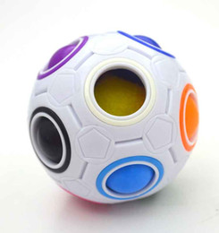 $enCountryForm.capitalKeyWord NZ - HOT Rainbow Ball Magic Cube Speed Football Fun Creative Spherical Puzzles Kids Educational Learning Toy Game For Children Adult Gifts J0004