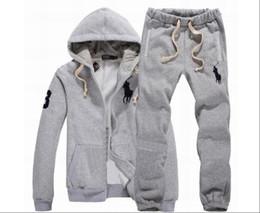 Automne chaud survêtements designer jogger couleur unie pull à capuche zippé cardigan hommes pantalon large en Solde