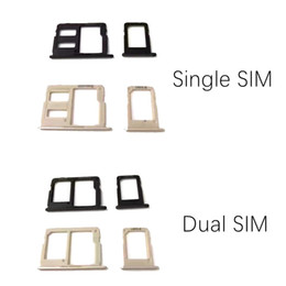 sim card memory NZ - 100% New Double Single Sim Micro SD Memory Card Tray Holder Slot For Samsung Galaxy J5 prime J7 prime VS On5 On7 10PCS