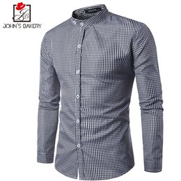 $enCountryForm.capitalKeyWord Canada - Brand 2017 Dress Shirts Mens Simple Plaid Shirt Cotton Slim Fit Chemise Long Sleeve Shirt Men New Model Shirts White Plus Size