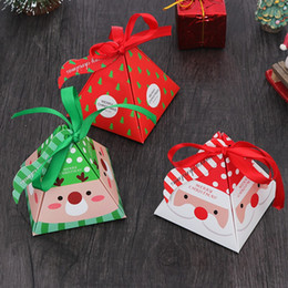 Christmas Gift Bag Paper Australia - Merry Christmas Candy Box Bag Christmas Tree Gift Box With Bells Paper Gift Bag Container Supplies Navidad Freeshipping